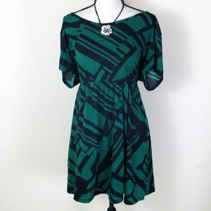 Annabelle Plus Size Green and Black Dress Size 3X